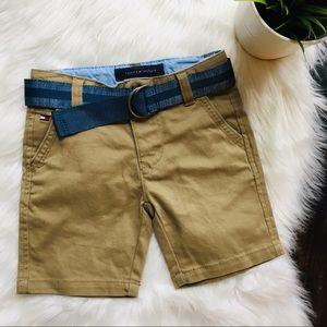 TOMMY HILFIGER Khaki Shorts w/ Belt Toddler 3T